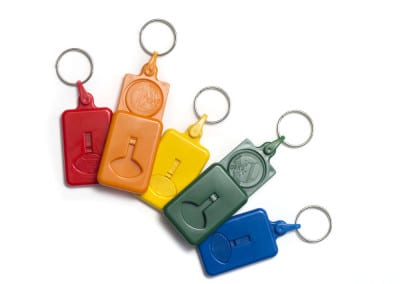 Key ring Euroclick coin 1€