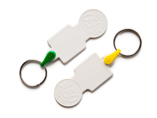 KEY RING COIN 0,50€ SQUARED